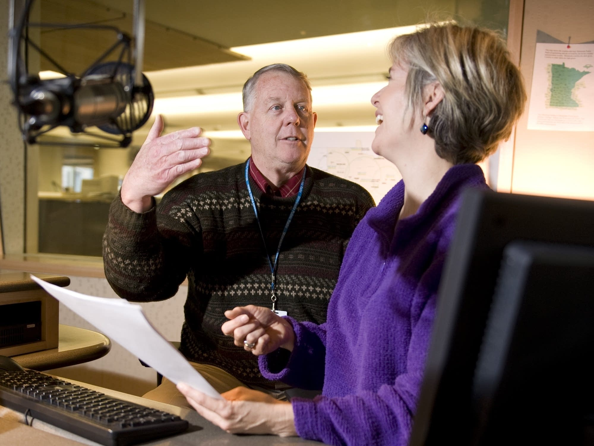 Mark Seeley talks with Cathy Wurzer in the MPR studios.