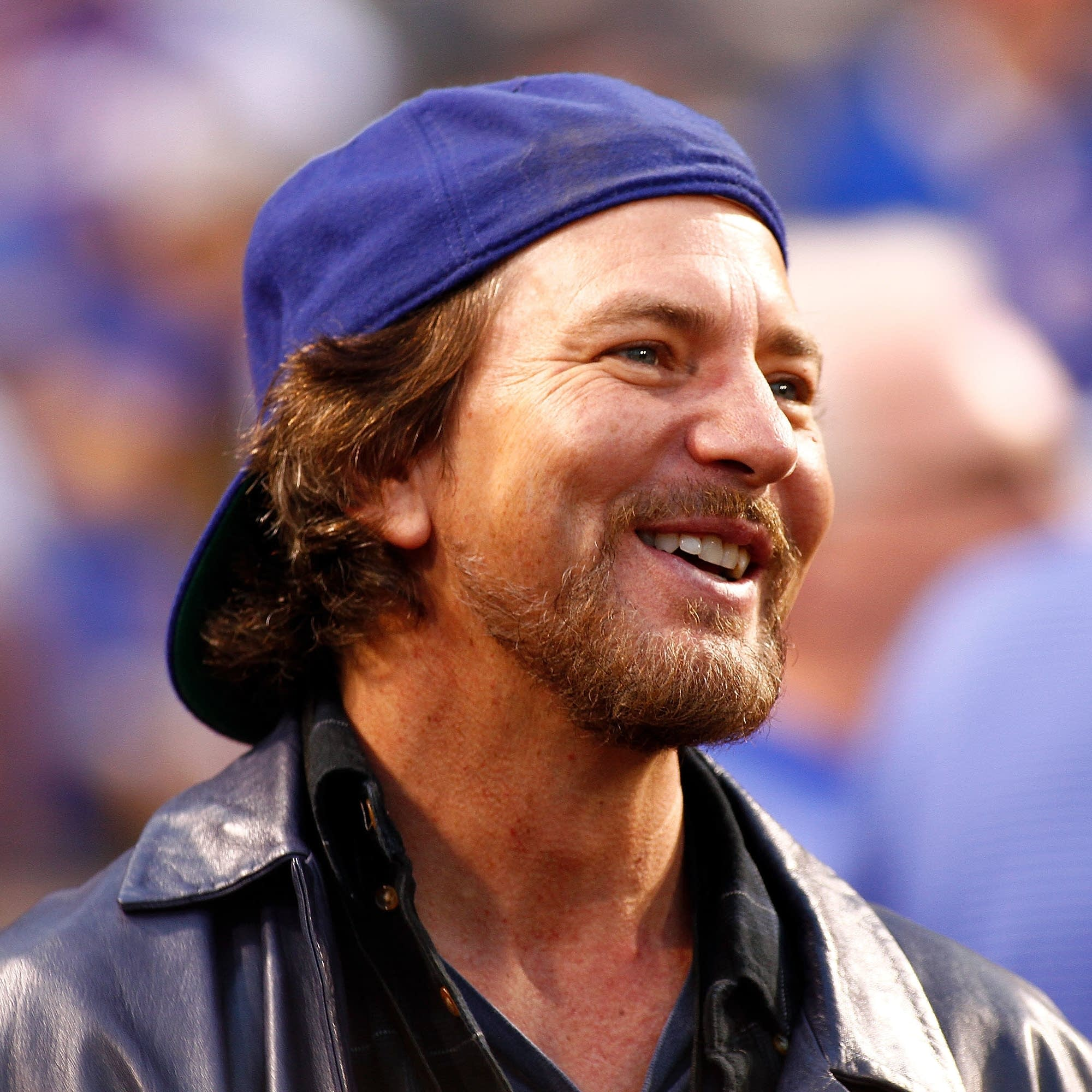 Eddie Vedder at a Cubs game in 2015.