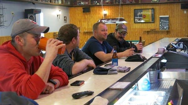 Firefighters Patrick Stevens, Derek Rudd, David Nelson and Tim Solem