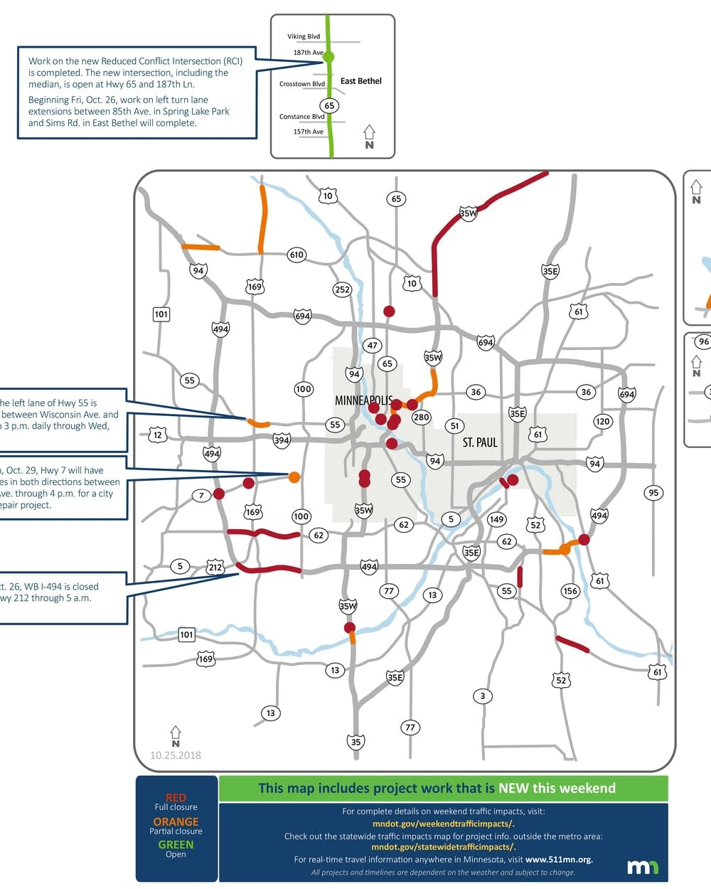 Westbound I-494 closing this weekend in the west metro | MPR