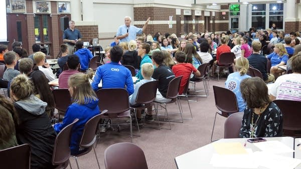 Tom Cody leads a social-emotional learning session