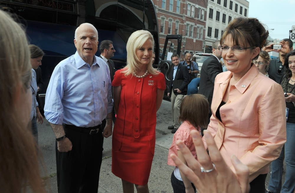 John and Cindy McCain, Sarah Palin