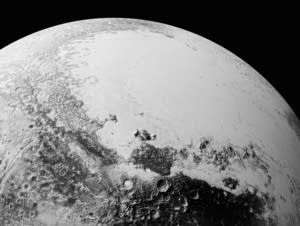 A synthetic perspective view of Pluto