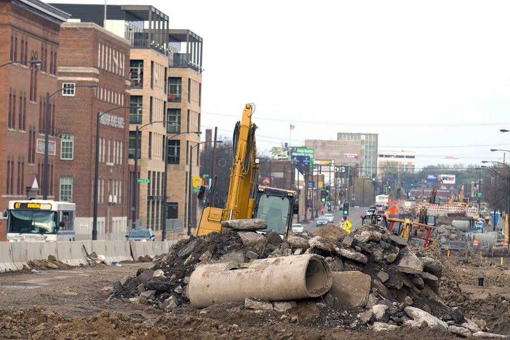 University Avenue construction