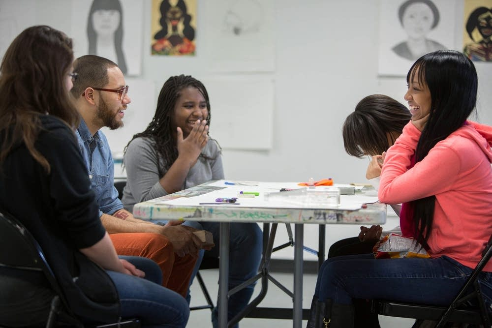 Apprentices in the contemporary arts program