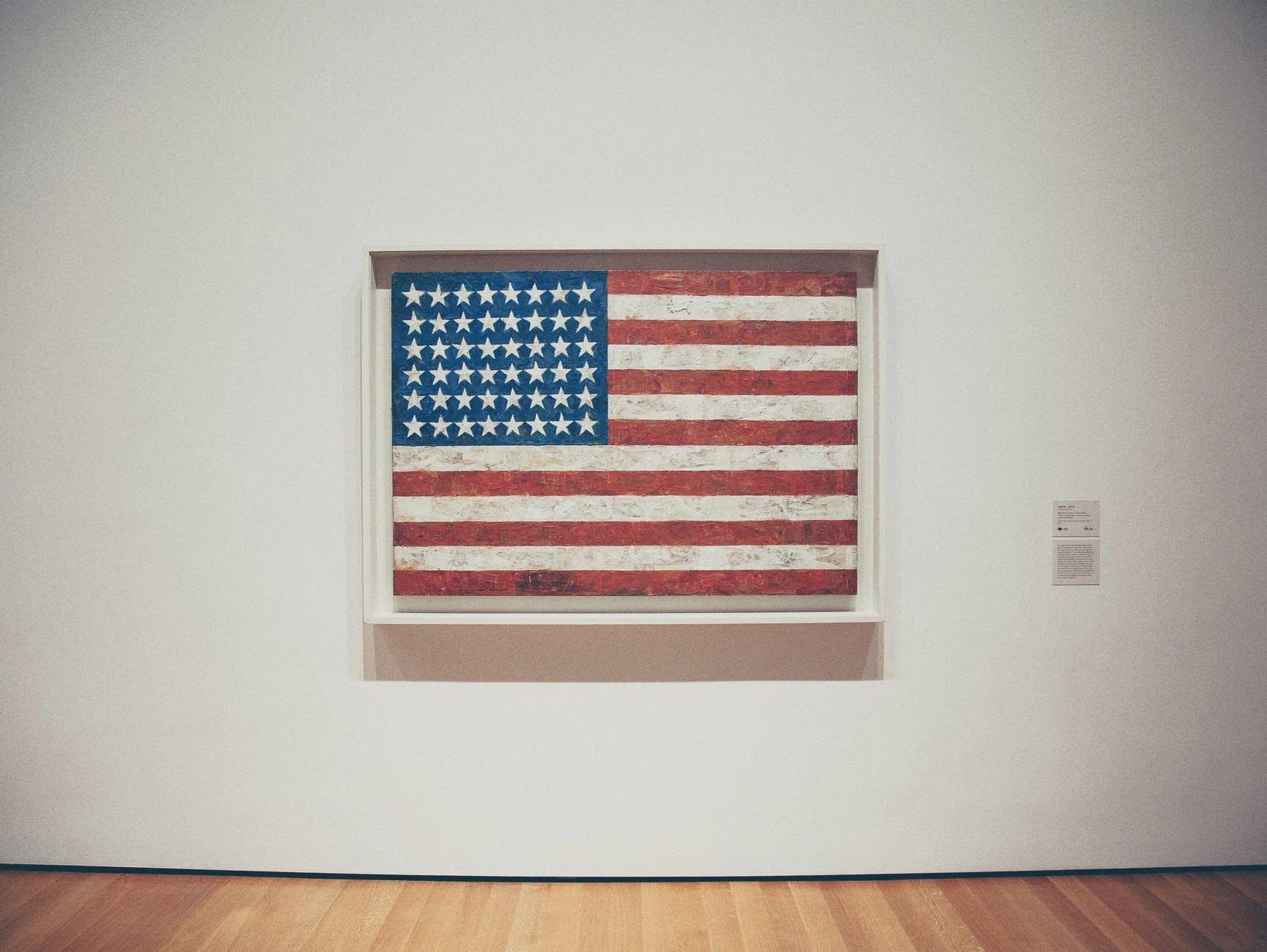 An American flag by artist Jasper Johns.