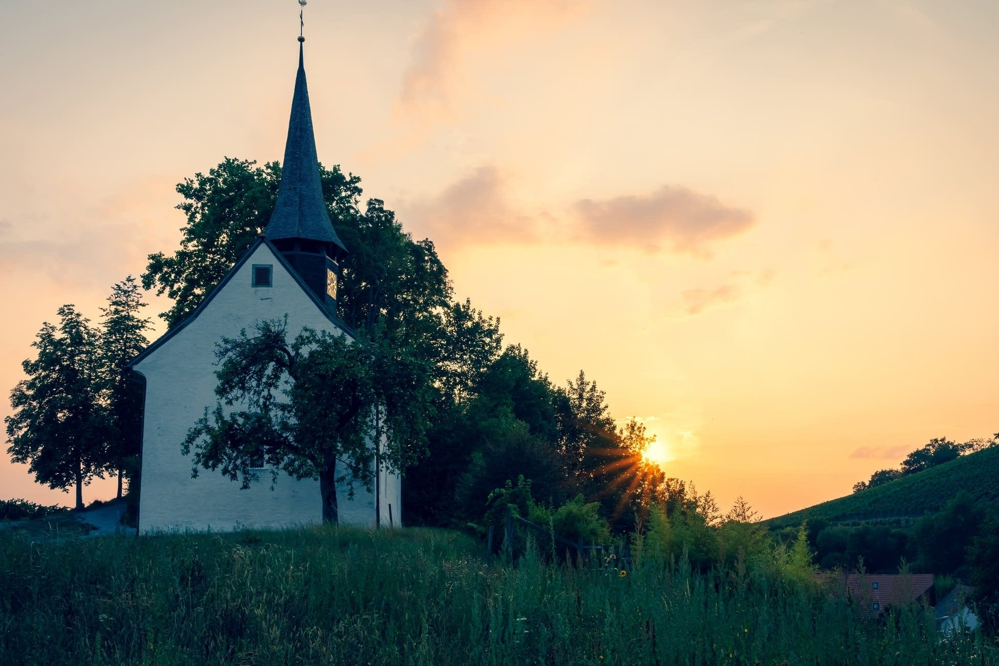 Early American church.