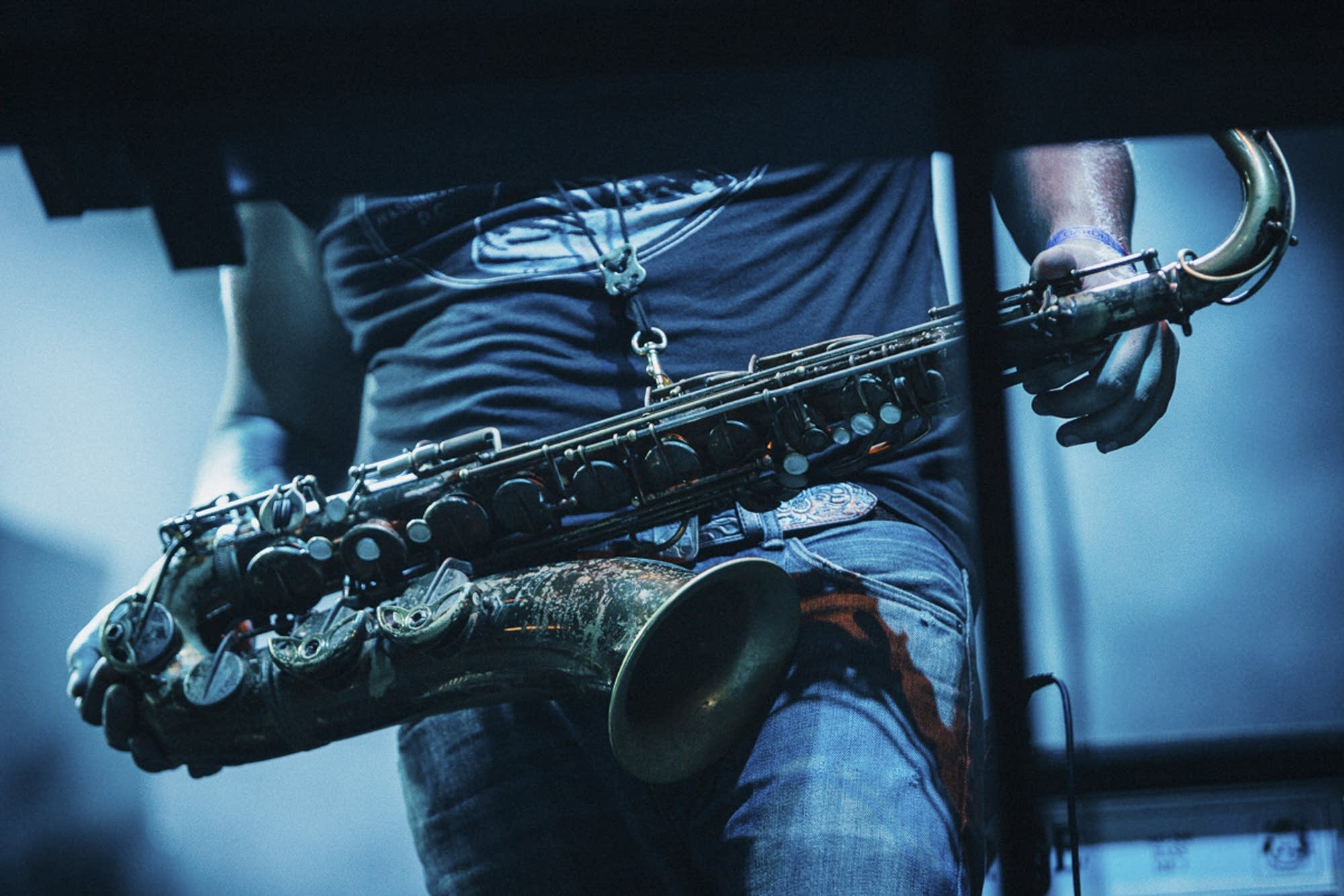One of Bon Iver's saxophones.