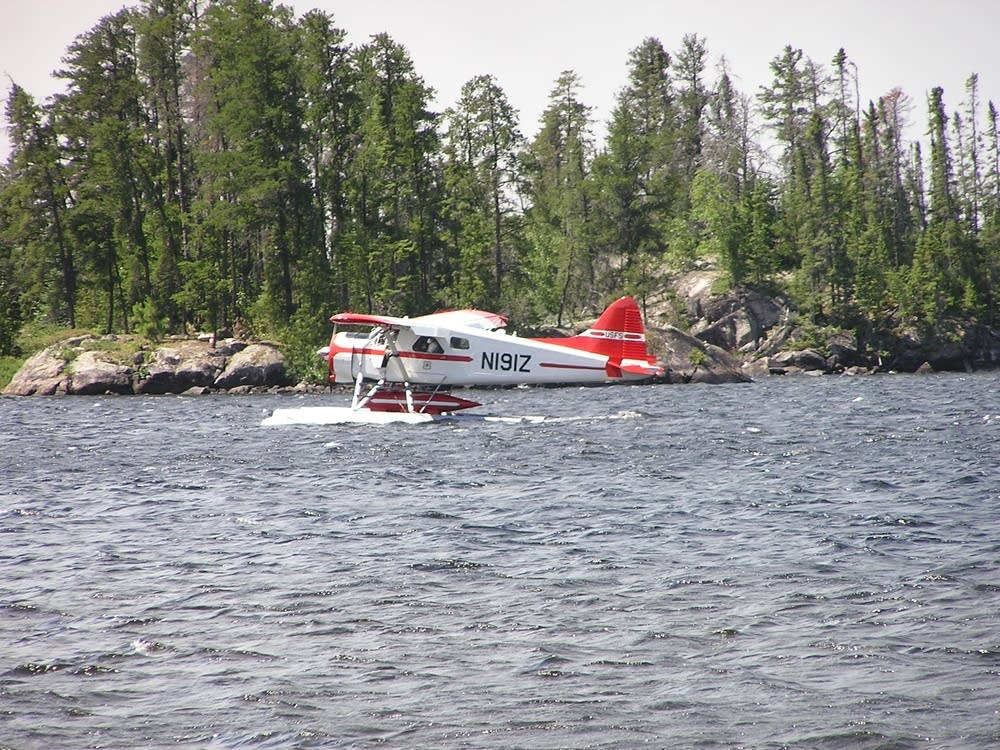 A fire fighting airplane