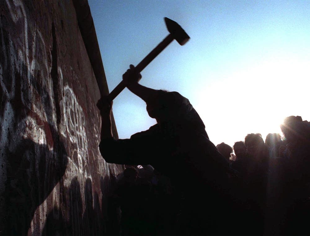 Hammering the wall