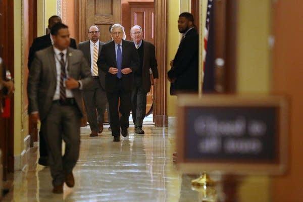Senate Majority Leader Mitch McConnell and Sen. Lamar Alexander