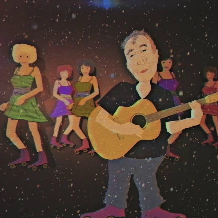 Still from John Prine's new animated video