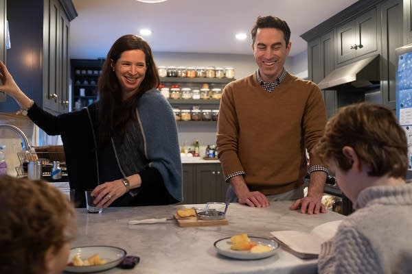 Sloane and Chip LaCasse make an after-school snack for their 2 sons.