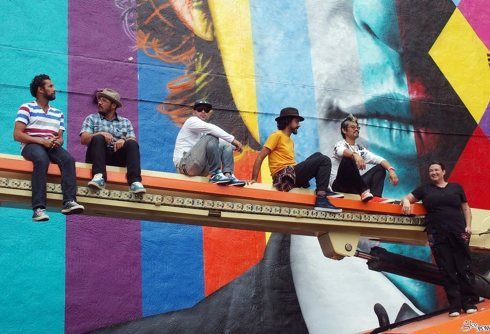 The mural crew included two from Minneapolis.