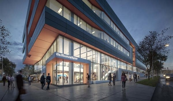 Rendering of Discovery Square in Rochester.