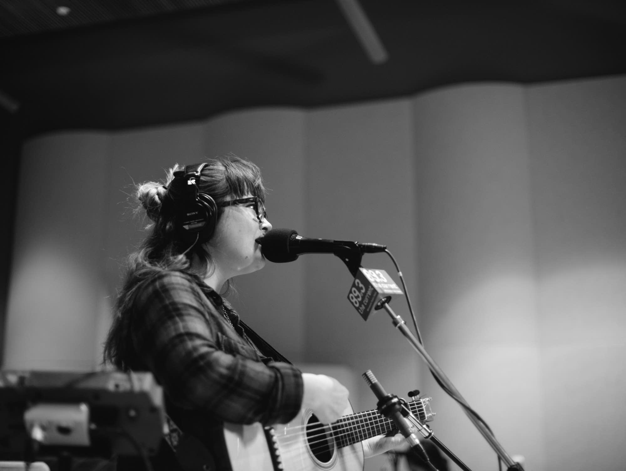 Sara Watkins performs in The Current studio.