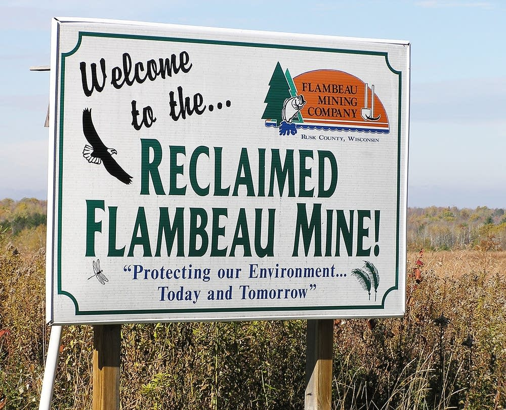 Flambeau welcome sign