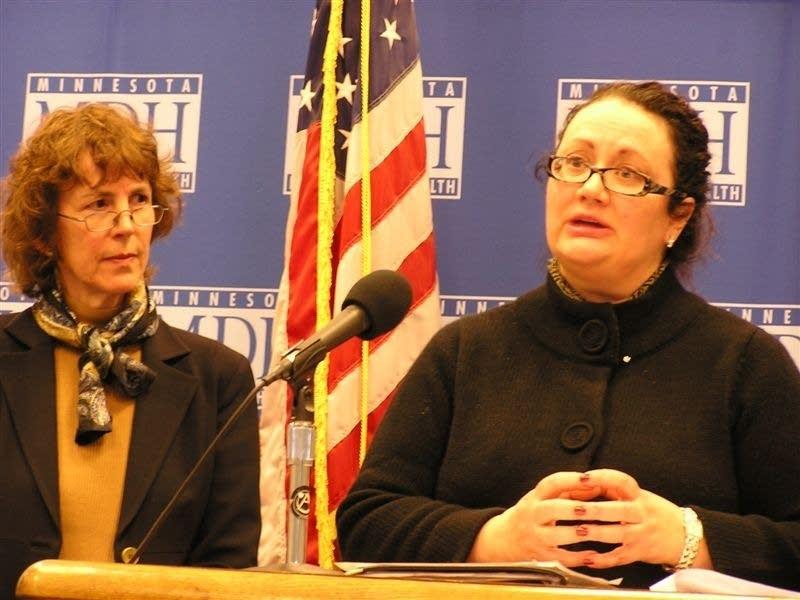 Commissioner Sanne Magnan and Ellie Garrett