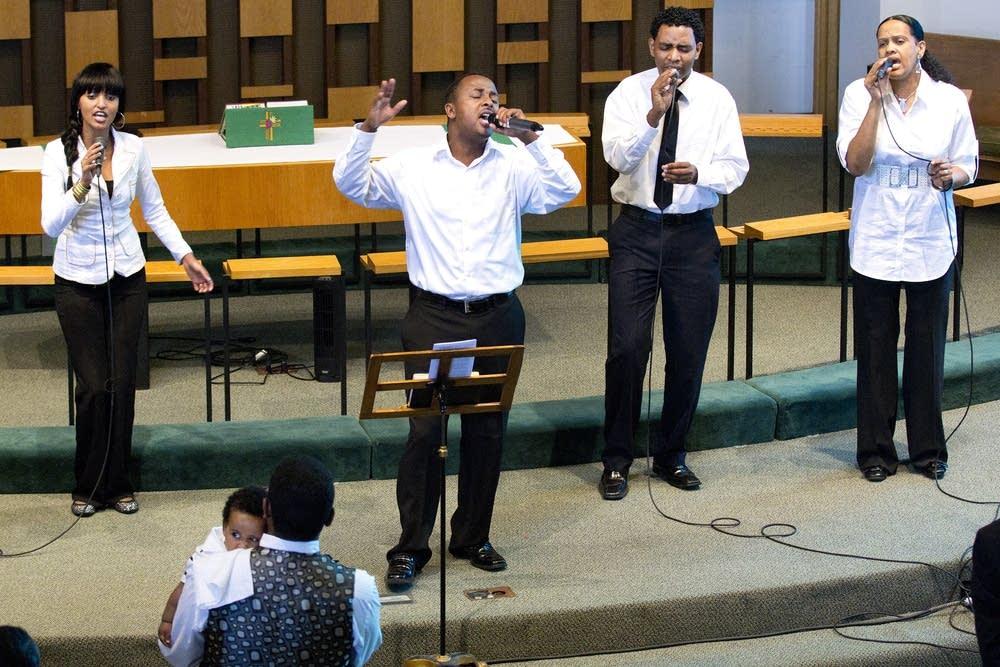 Oromo singers perform