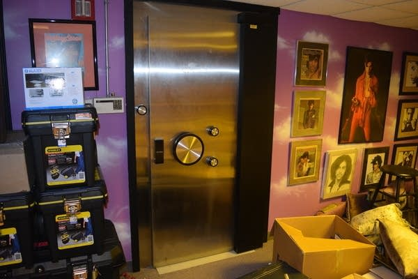 Included in the photos released today are shots of Prince's vault door.