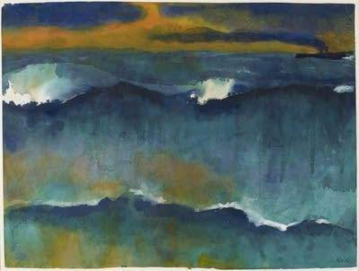 1f99b9 20140814 nolde heavy seas at sunset