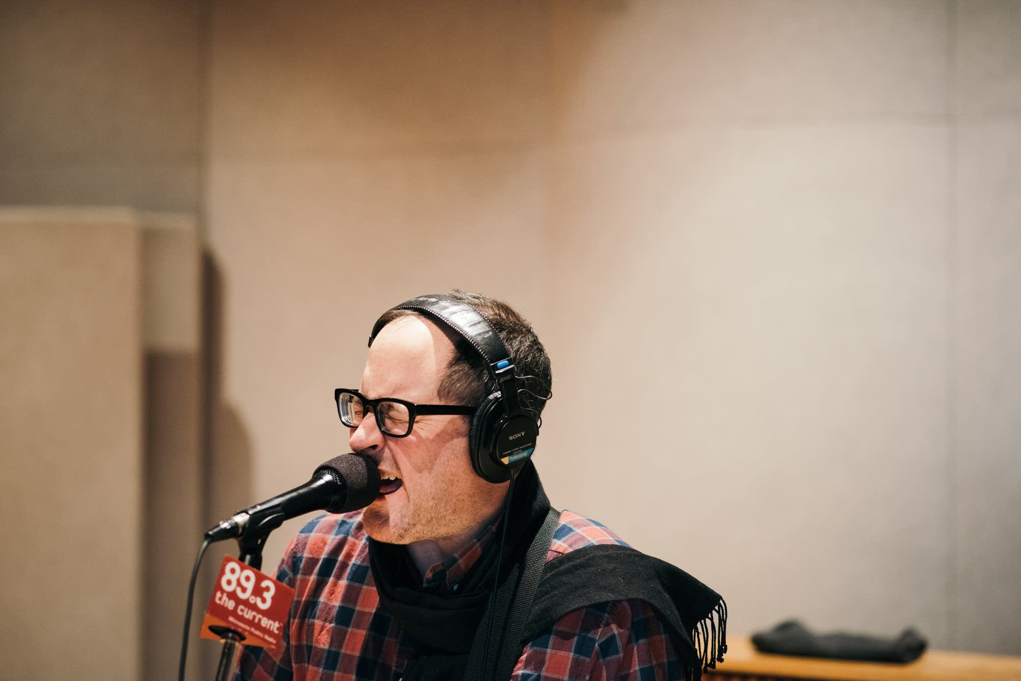 Craig Finn performs in The Current studio