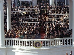 Jimmy Carter gives his inaugural address as the 39th President.