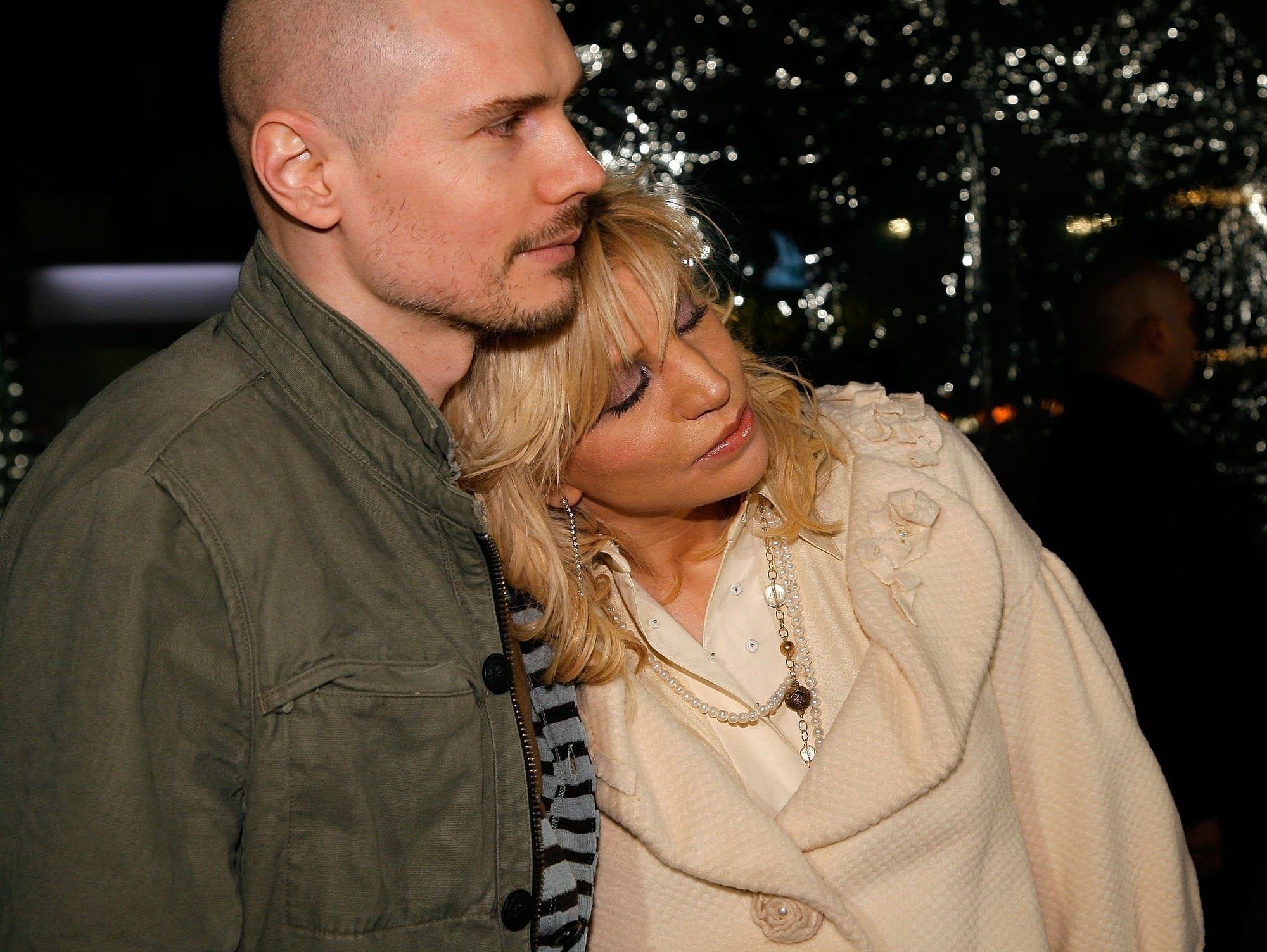 Billy Corgan and Courtney Love in 2007.