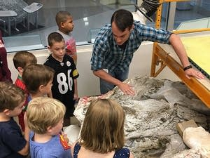 The new curator of paleontology, Alex Hastings