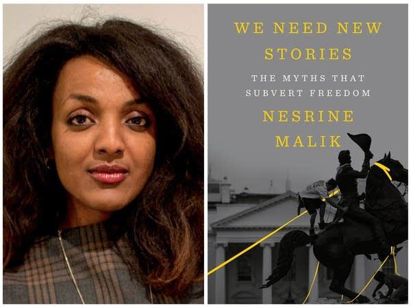 Nesrine Malik and her book cover