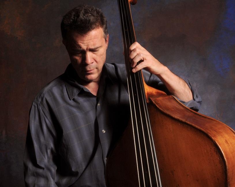 Edgar Meyer plays his double bass.