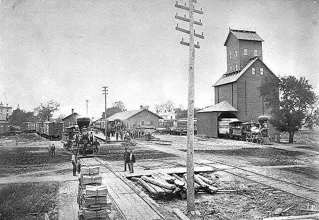 St. Paul and Pacific Railroad depot