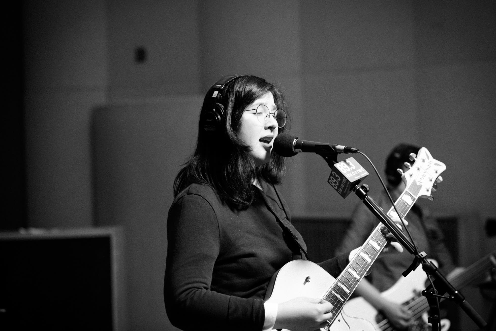 Lucy Dacus performs in The Current's studio