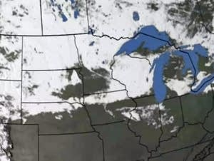 Snow cover across North America