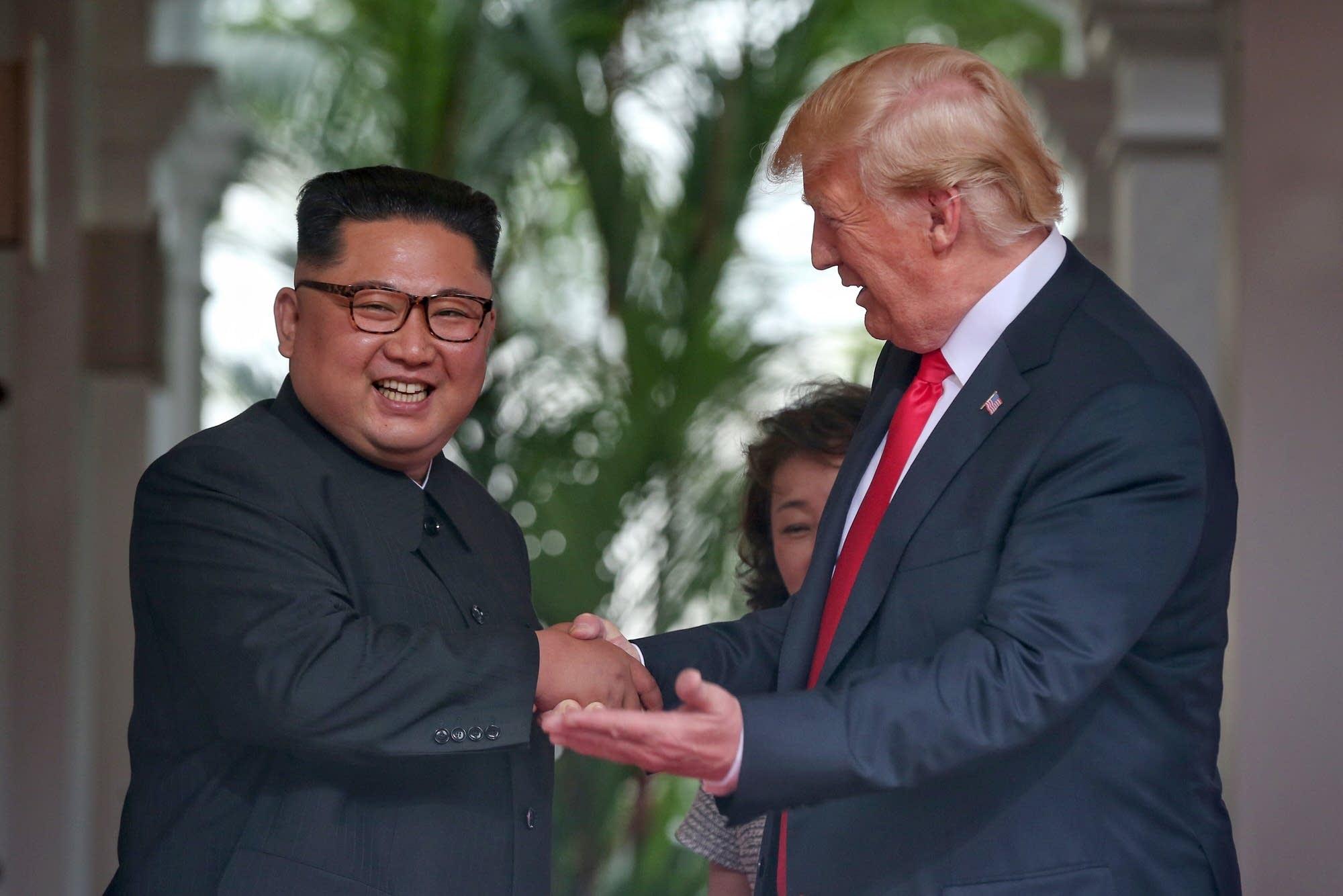 President Trump meets North Korean leader Kim Jong Un.