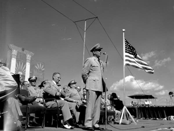 General Dwight Eisenhower at the Minnesota State Fair in 1947.