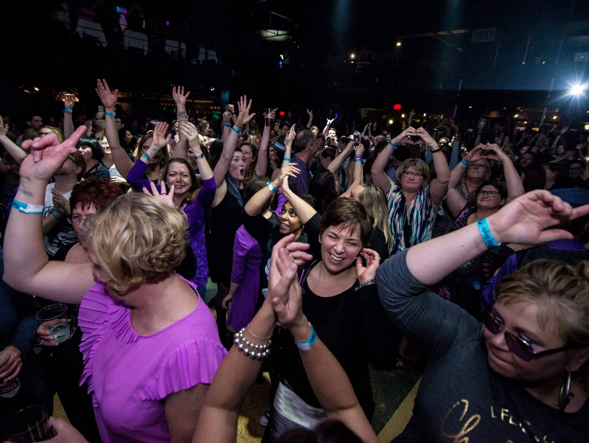 Prince fans dance and cheer at First Avenue.