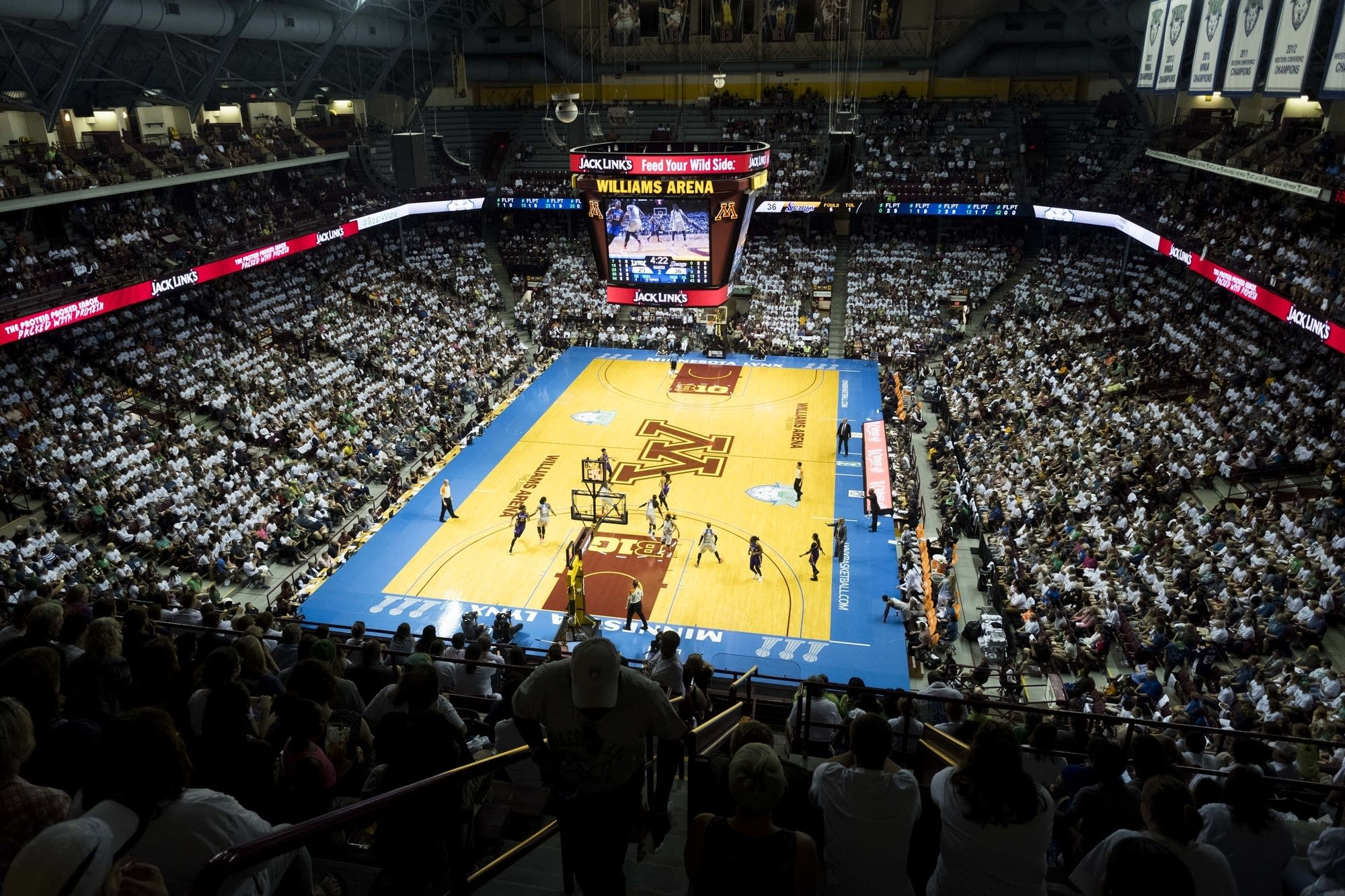 Fans fill Williams Arena at the University of Minnesota.