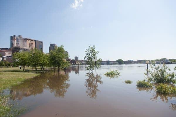 Flooded Upper Landing Park