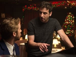 Ryan Gosling and Composer Justin Hurwitz on the set of 'La La Land.'