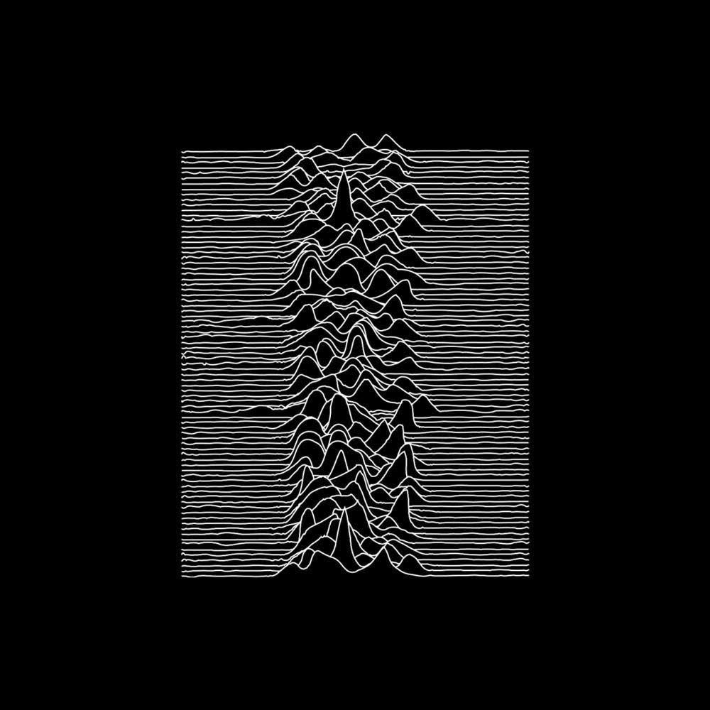 Cover art for Joy Division's 'Unknown Pleasures.'