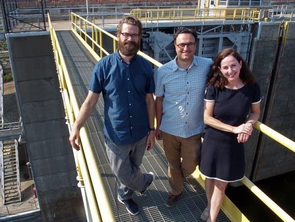 Aaron Dysart, Dan Dressler and Katie Nyberg