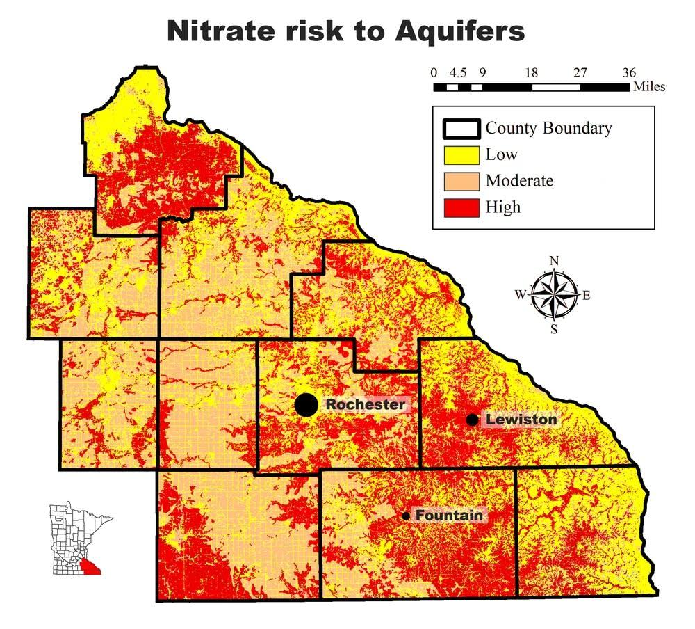 Nitrate vulnerability in SE Minnesota