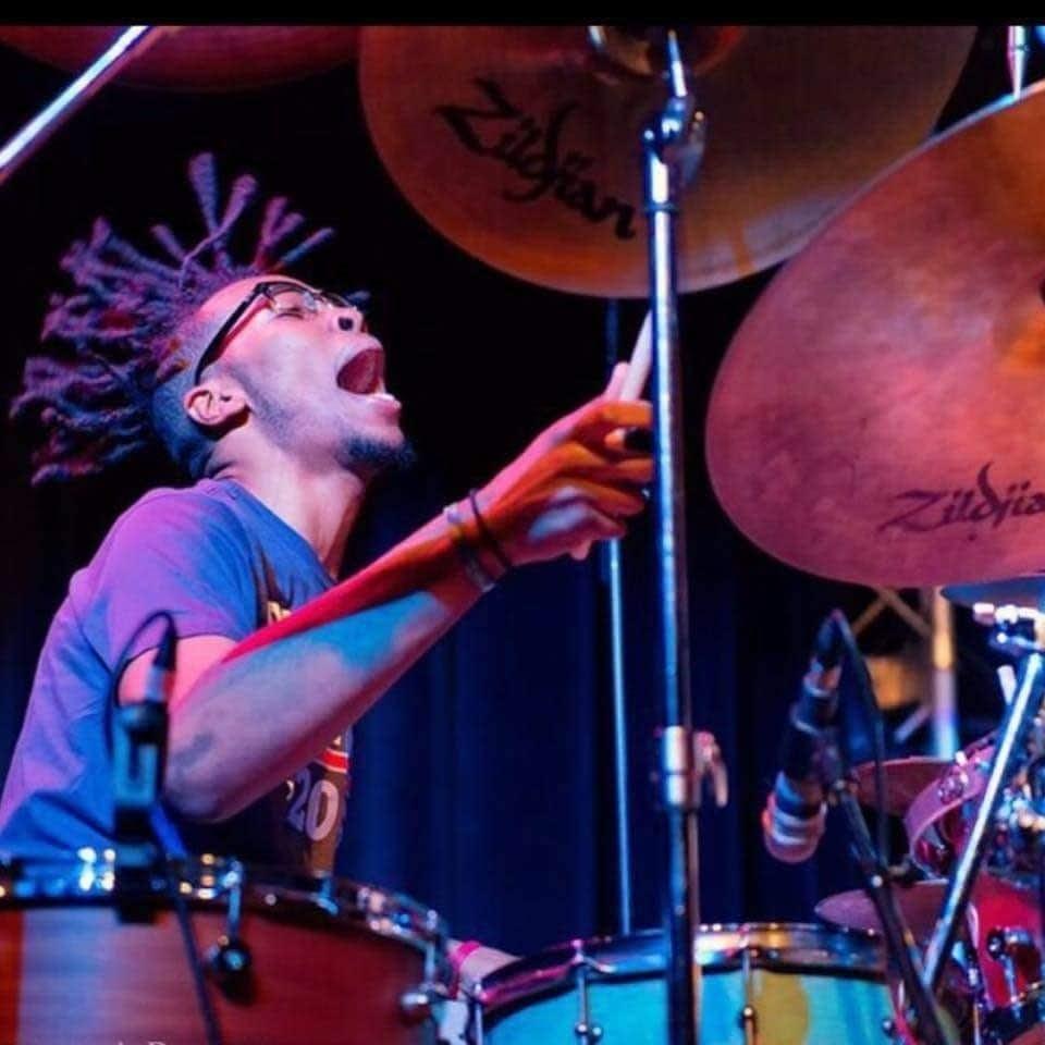 """Arthur """"L.A."""" Buckner drumming."""