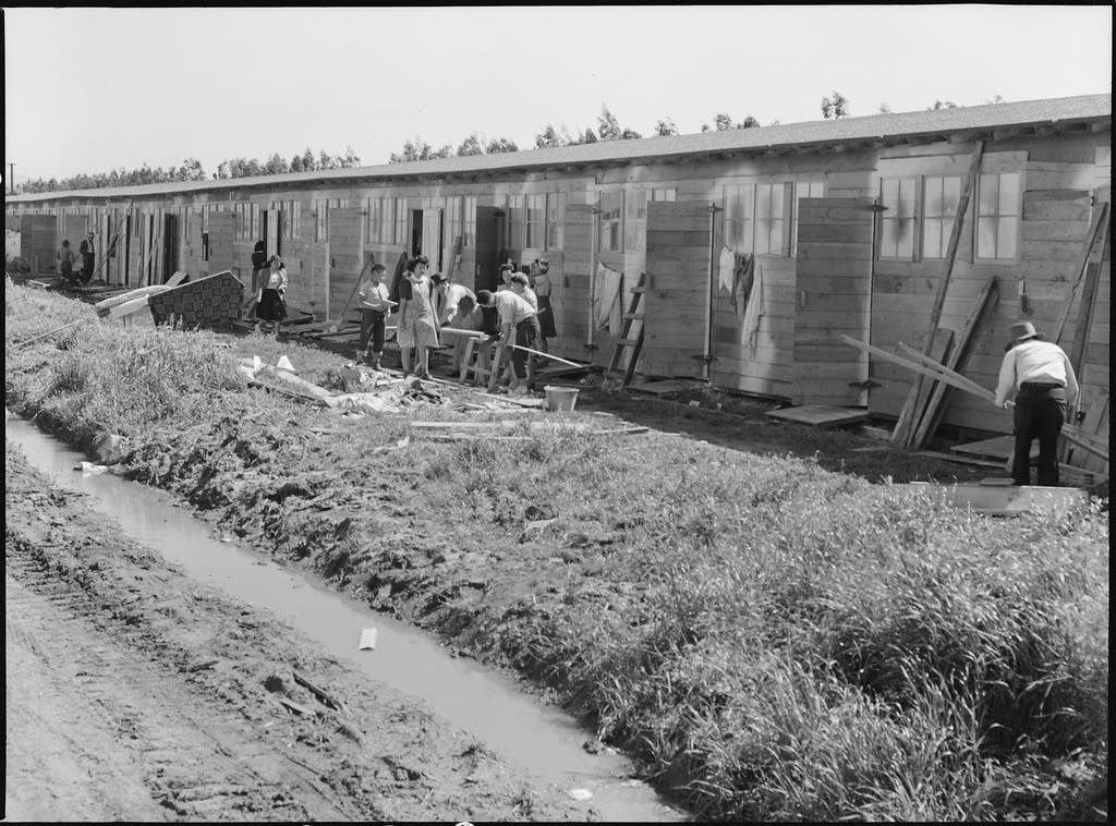 San Bruno, California. Barracks for family living quarters.