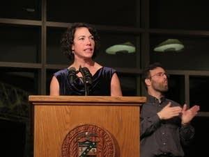 Duluth Mayor Emily Larson was sworn in on Jan. 4