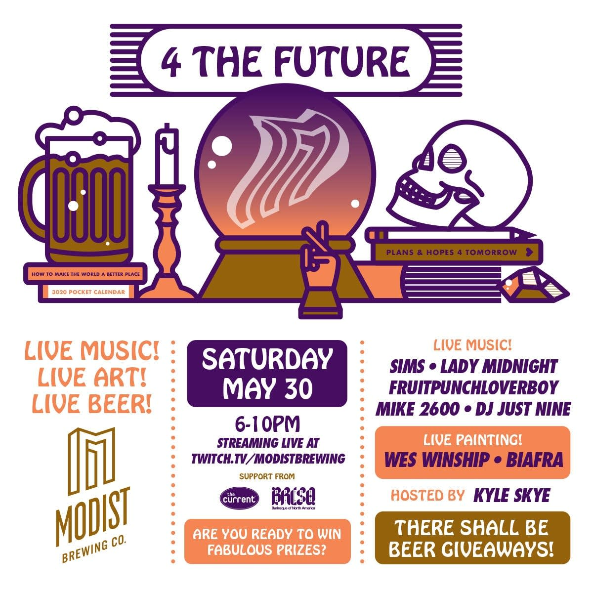 Modist Brewing Company 4 the Future Livestream Event