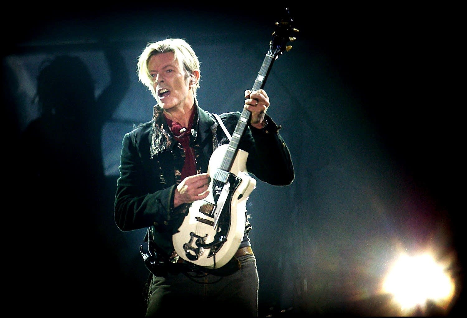 Rock legend David Bowie performs