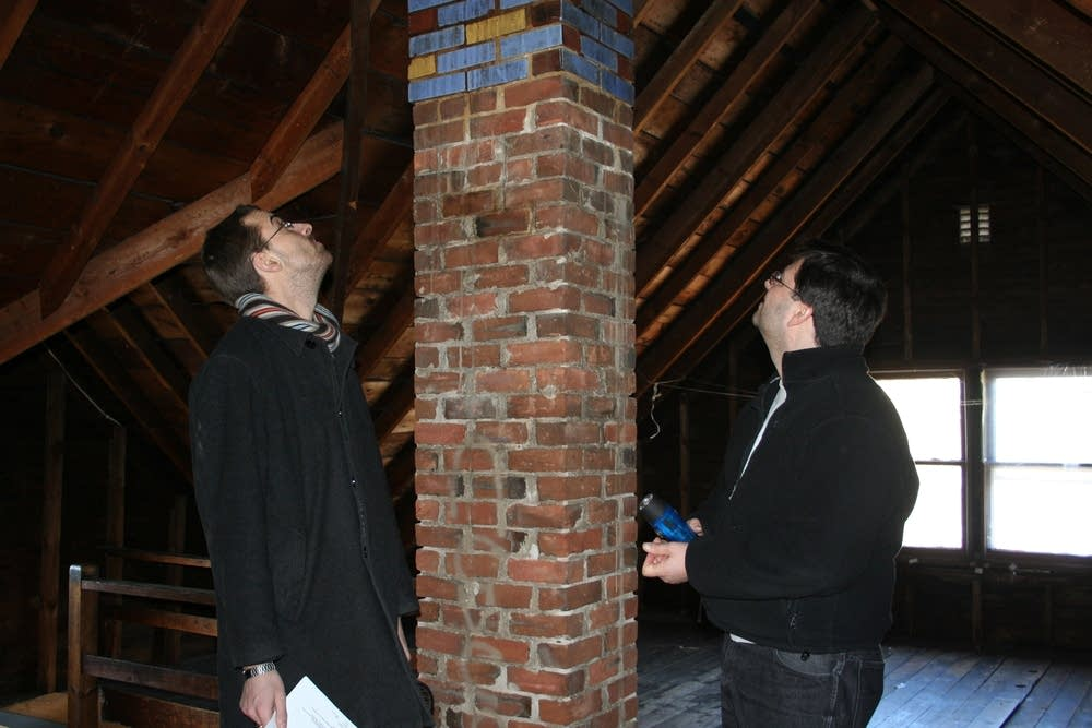 Attic brickwork