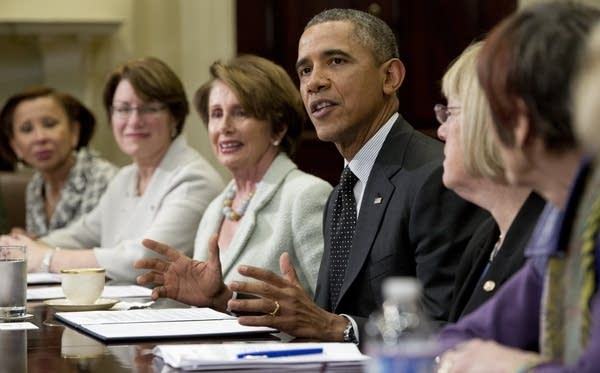 Obama with members of Congress